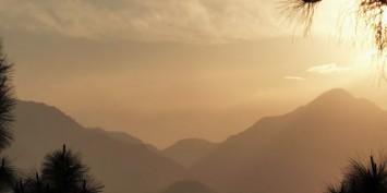 Coucher de soleil du Népal