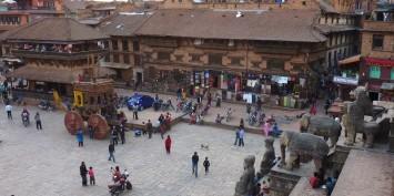 Baktapur au Népal, lieu de notre arrivée